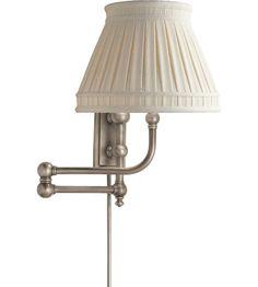 Visual Comfort E.F. Chapman Pimlico 1 Light Swing-Arm Wall Light in Antique Nickel CHD2154AN-LCC #visualcomfort #lightingnewyork #lighting