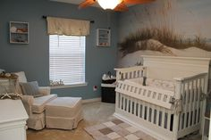 Beach themed nursery, LOVE