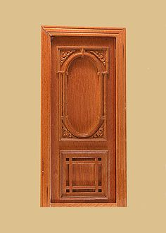 Penniman dollhouse single door 1:12 finished walnut- Majestic Mansions