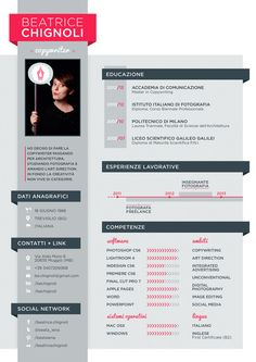Curriculum Vitae by Beatrice Chignoli, via Behance