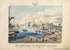 DESEMBOCADURA DEL RIO PASIG EN LA BAHIA. Lozano, José Honorato 1821- — Dibujo — 1847