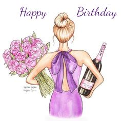 Birthday Ecards for Females Happy Birthday Woman, Happy Birthday Greetings Friends, Happy Birthday Ecard, Happy Birthday Celebration, Happy Birthday Flower, Happy Birthday Friend, Happy Birthday Pictures, Happy Birthday Messages, Happy Birthday Illustration