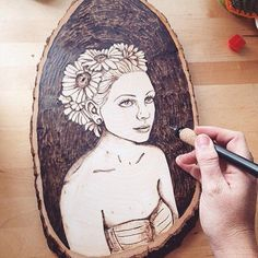 This boho beauty is everlasting. @thepastelpug displays stunning skill in pyrography the fascinating art of using a hot metal tip to create burned designs on wood or leather. Explore more of their detailed creations at link in bio. by etsy