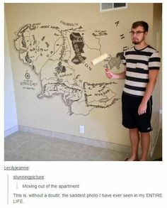 One does not simply paint over Mordor to retain your deposit...