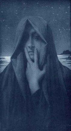 Le Silence by Lucien Levy Dhurmer