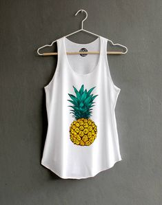 02cee87fe2 Pineapple Tank top Pineapple Shirt Shirt Funny Shirts Hipster T-shirt White  Tank Top Womens