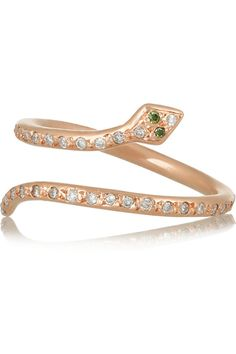 Ileana Makri | Snake 18-karat rose gold diamond ring | NET-A-PORTER.COM