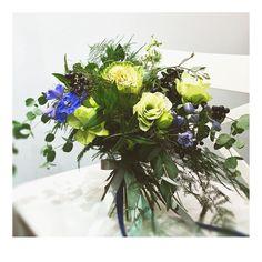 bukiet kapuściany. ogrodowo-warzywny z nutką elegancji: z ostróżką, ligustrem i eustomą