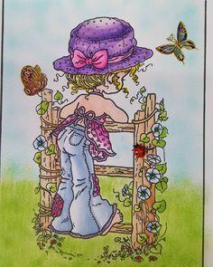 """Gefällt 341 Mal, 10 Kommentare - Bastelfrosch (@bastelfrosch) auf Instagram: """"So die kleine Sarah Kay gemalt mit Chameleon Pens ist jetzt fertig !!!  Stifte : Chameleon Pens…"""""""