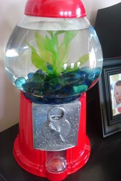 If anyone EVER finds a gumball machine at a thrift store...GET IT FOR ME!!! I have had this saved on my old computer for over a year...every time I walk into a Goodwill I look for one. I will have this one day! :)