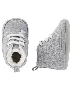 Carters Sherpa Boot Crib Shoes
