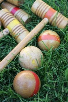 "croquet. For when ""company"" came over."