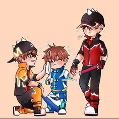 Galaxy Movie, Anime Galaxy, Boboiboy Galaxy, Pokemon Comics, Anime Comics, Boat Drawing, Boboiboy Anime, Doraemon Wallpapers, Cute Stories