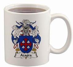 Azagra Coat of Arms Mug / Family Crest 11 ounce cup $15.99