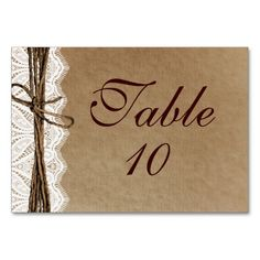 Rustic Country Vintage Paper Wedding Table Cards