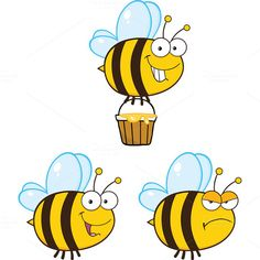 Free Honey Bee Clipart Tagged free clipart honey bee flower image, free honey bee clip art images, free honey bee clipart,at transitionsfv Bee Painting, Painting For Kids, Bee Clipart, Bee Drawing, Cartoon Bee, Bee Boxes, Bee On Flower, Cute Bee, Bee Art
