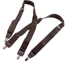 HoldUp Pin In Suspenders Braces Classic Finger No Slip Metal Clip Regular Tall