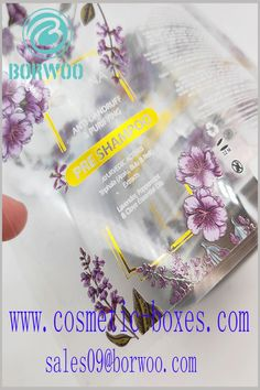 Plastic label for shampoo. Customized labels use CMYK printing and bronzing printing, the design of the label is very attractive. Blister Packaging, Perfume Packaging, Bottle Packaging, Print Packaging, Cosmetic Labels, Cosmetic Box, Cosmetic Packaging, Cardboard Boxes With Lids, Custom Packaging Boxes