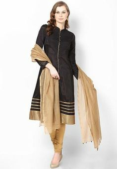 Wishful By W Black Viscose Solid Suit Set - Buy Women Suit Sets Online | WI481WA90YKVINDFAS