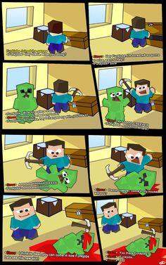 Bored Steve Friends new skin Minecraft comic