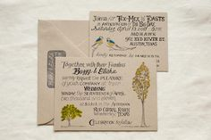 Wedding invitations created by the bride's father; Photography by qweddings.com