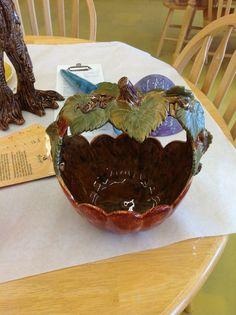 Fall pumpkin basket by TulsaCustomArt on Etsy, $40.00