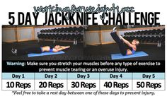 workingforweightloss:    5 Day Jackknife Challenge — GREAT for building strong abs & back!