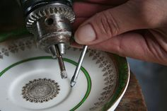 Step-by-Step, How to Drill Through Vintage China… With Pictures!
