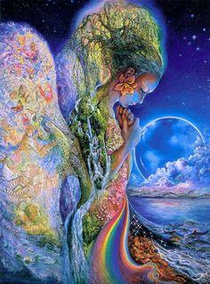 Josephine Wall: The Sadness Of Gaia - Jigsaw Puzzle By Buffalo Games Gaia Goddess, Earth Goddess, Mother Goddess, Josephine Wall, Psychedelic Art, Fantasy Kunst, Fantasy Art, Mother Earth, Mother Nature