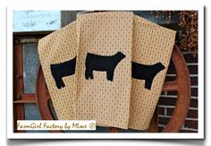 Show Cattle Inspired Kitchen Towels by kmlove1250 on Etsy, $22.00