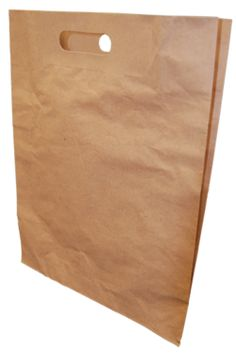 Kraft Paper Pinch Bottom Bag.  Available in a variety of sizes. See gunthermele.com for details.