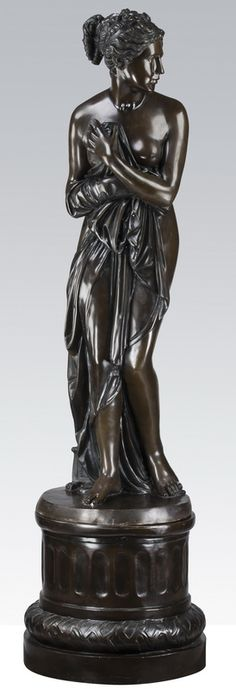 After Antonio Canova (Italian, 1757-1822), contemporary bronze sculpture of a partially robed Venus, called Venus Italica.