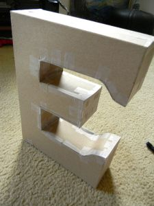 Attention to Balance DIY Cardboard Letter & Découpage! Large Cardboard Letters, Giant Letters, Cardboard Box Crafts, Diy Letters, Large Letters, Paper Crafts, Diy Crafts, Decoupage Letters, Decoupage Tutorial