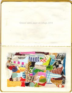 ©oscar sabini, collage on paper, 2014
