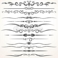 Ornamental Rule Lines in Different Design — Stock Illustration #8439403