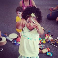 Picture of the day: Peek a boo Triangle #kindermusik #growandsingstudios #music