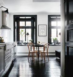 Interiors | Black Trimmed Nordic Apartment