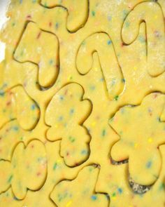 Cake Mix Cut-Out Cookies - 1 Box Cake Mix, 2 Eggs, 1 Stick Softened Butter, 1 t vanilla.  Mix ingredients well. Chill dough for 2 hours. Roll out on floured surface and cut with cookie cutters.   Decorate as desired.   Bake at 350 for 12-15 min. on a greased/lined cookie sheet.