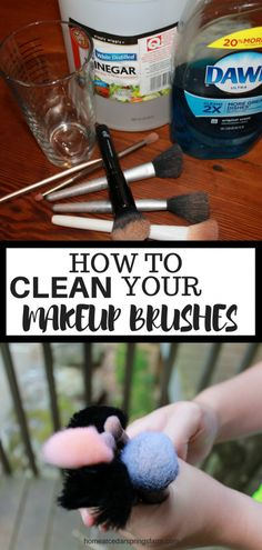 How To Clean Makeup Brushes Without Destroying Them - Home at Cedar Springs Farm. - How To Clean Makeup Brushes Without Destroying Them – Home at Cedar Springs Farm makeup - Make Up Palette, Clean Beauty, Diy Beauty, Beauty Makeup, Natural Beauty, Beauty Tips, Beauty Hacks, Homemade Beauty, Skin Makeup