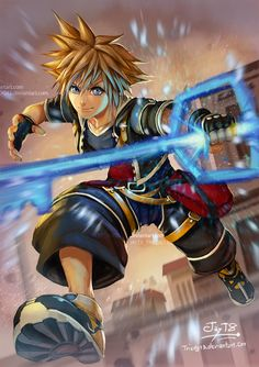FanArt5 -Sora Kingdom Heart by Triedg13 by Triedg13 on DeviantArt
