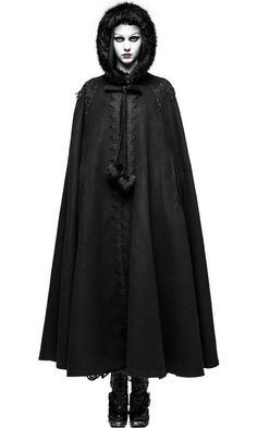 Looking for Gothic lolita clothes, Visual kei clothes or Punk clothes! Beserk provides the best range of Punk Rave clothing - shop now! Forest Fashion, Dark Fashion, Gothic Fashion, Gothic Mode, Gothic Lolita, Gothic Girls, Capes, Gothic Mantel, Black Cape