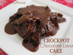 Crockpot Chocolate Lava Cake - A decadent & easy cake made in the crock pot!!