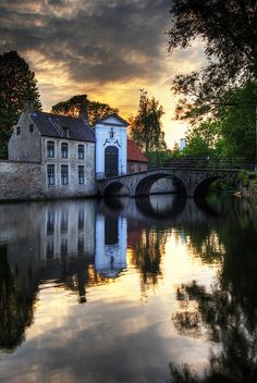 Canal bridge afterglow - Bruges  | by © Wolfgang Staudt