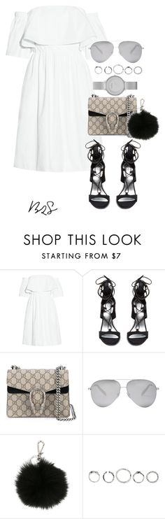 """""""#737"""" by blendingtwostyles ❤ liked on Polyvore featuring Paper London, Stuart Weitzman, Gucci, Victoria Beckham, MICHAEL Michael Kors and Skagen"""