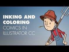 Quickly Inking and Coloring comics in Illustrator CC - YouTube