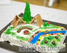 Dad/Son scout cake & magic show party for cub scout blue and gold banquet