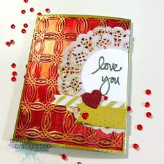 Valentines Day Card with InkaGold Background