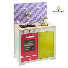 Spielküche für Kinder Lavandula aus Holz creme-blau MUSTERKIND ...