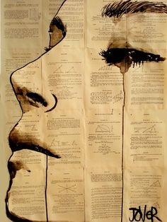 "Saatchi Online Artist Loui Jover; Drawing, ""content"" #art    ---  emotions vs science"