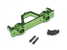Boom Racing #BR233015G Aluminum Rear Bumper Mount - 1 Pc Green [RECON G6 The Fix Certified] for Axial SCX10